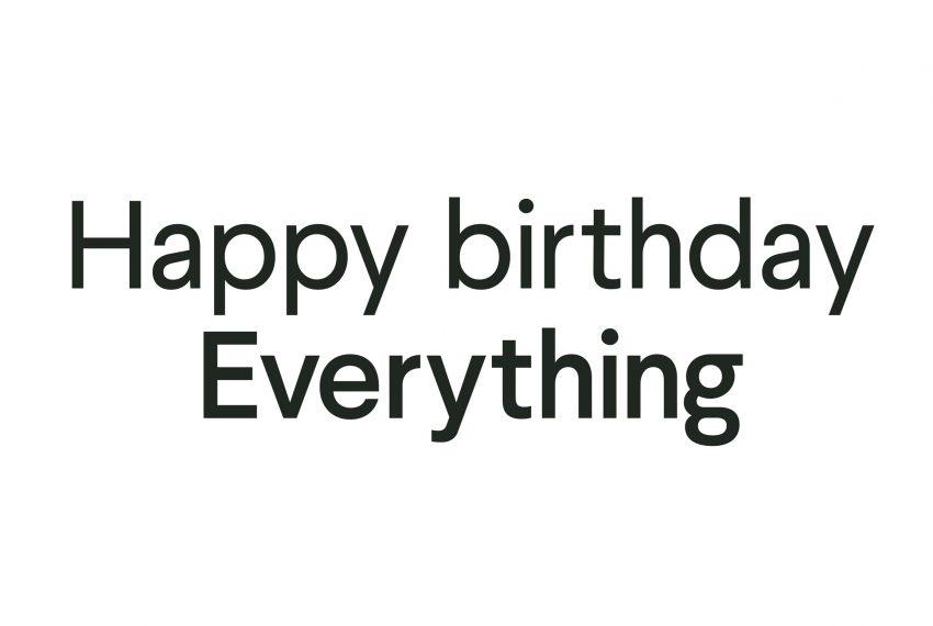 Happy birthday Everything