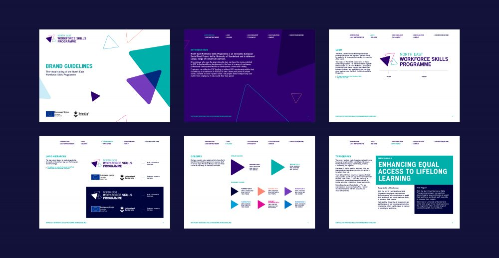 North East Workforce Skills Programme brand guidelines by Everything