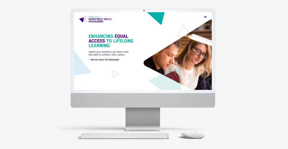 North East Workforce Skills Programme website home page by Everything